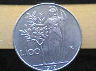 moneta 100 lire del 1972
