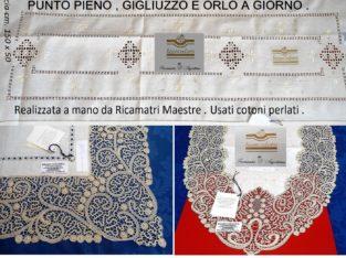 Centri , Corsie , Fasce E Centri Tavolo Ricamati a Mano .