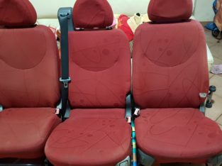 Sedili Fiat Multipla prima serie, colore rosso
